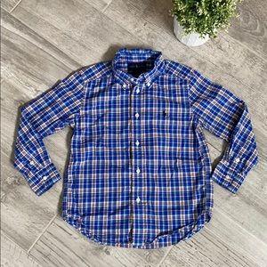 RALPH LAUREN Boys plaid button down shirt, size 5
